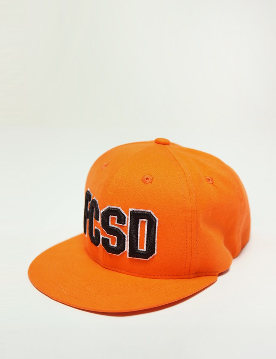 Picture of Baseball cap orange with a flat visor