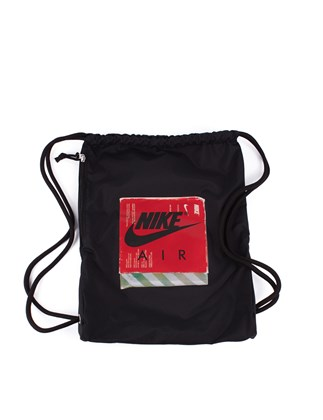 Picture of NIKE black Backpack bag with print