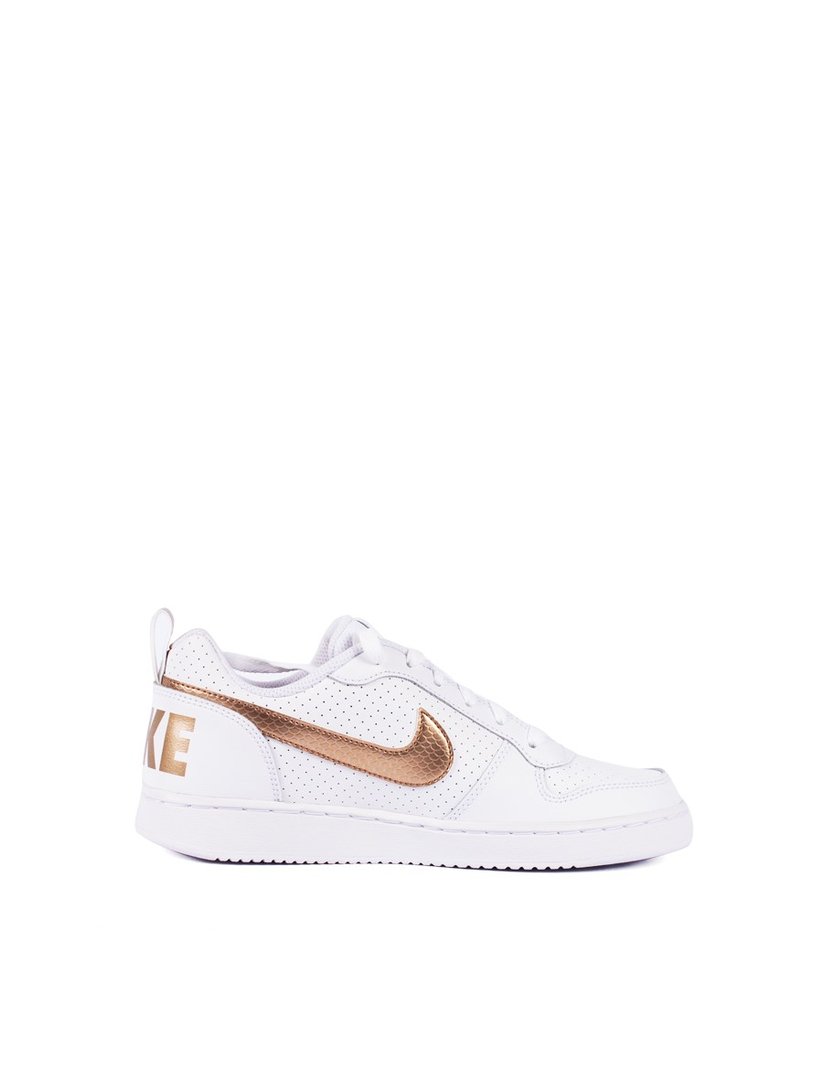 Picture of Nike COURT white with gold Sneakers