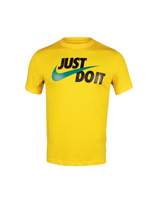 Picture of NIKE  yellow T-SHIRT with print