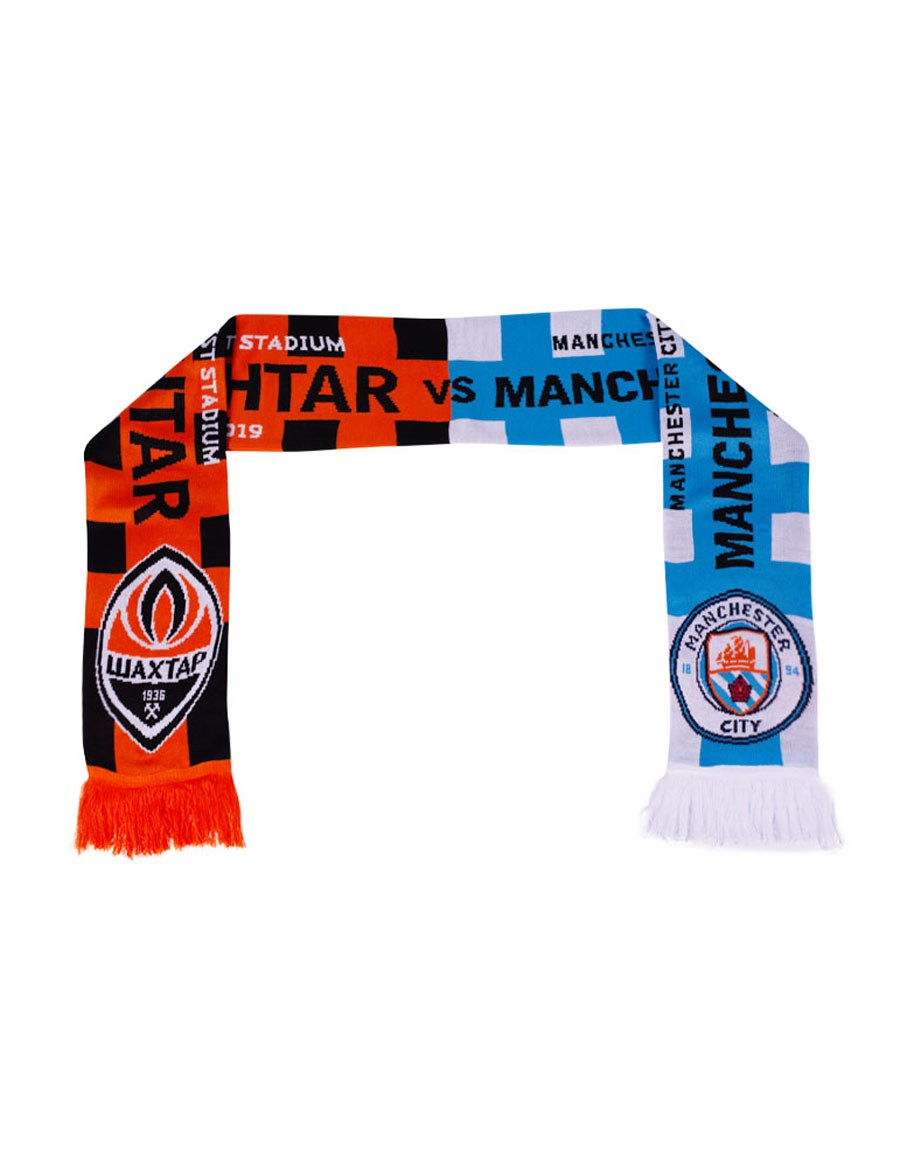 Shakhtar vs Manchester City match scarf 003672: buy in the official online  store (fan-shop) FC Shakhtar