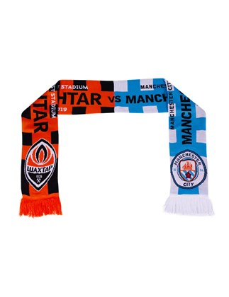Picture of Shakhtar vs Manchester City match scarf